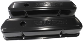 <strong>Black Steel Valve Covers</strong><br />Suit Holden 253-308 With Aeroflow Logo