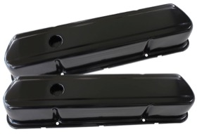 <strong>Black Steel Valve Covers</strong><br />Suit Holden 253-308 Without Aeroflow Logo