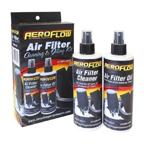 <strong>Air Filter Cleaner and Oil Kit</strong><br /> Restore your reusable cotton fabric air filter performance, 2 x 296ml pump bottles