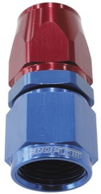 <strong>200 / 570 Series PTFE Straight Hose End -6AN </strong><br /> Blue/Red Finish. Suit 200 Series Hose