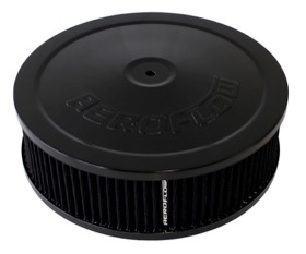 <strong>Black Air Filter Assembly</strong><br /> 9&quot; x 2-3/4&quot;, 5-1/8&quot; neck, black washable cotton element