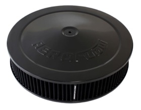 <strong>Black Air Filter Assembly with 1-1/8&quot; Drop base</strong><br /> 14&quot; x 3&quot;, 5-1/8&quot; neck, black washable cotton element