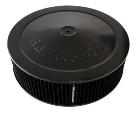 <strong>Black Air Filter Assembly with 1-1/8&quot; Drop base</strong><br /> 14&quot; x 4&quot;, 5-1/8&quot; neck, black washable cotton element