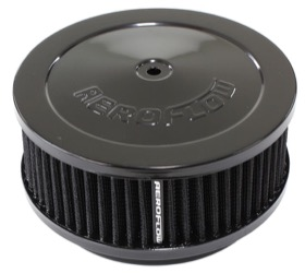 "<strong>Black Air Filter Assembly</strong><br /> 6-3/8"" x 2-1/2"", 5-1/8"" neck, black washable cotton element"