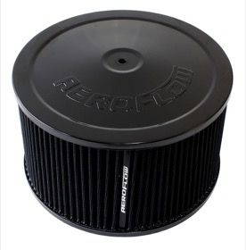 "<strong>Black Air Filter Assembly</strong><br /> 9"" x 5"", 5-1/8"" neck, black washable cotton element"