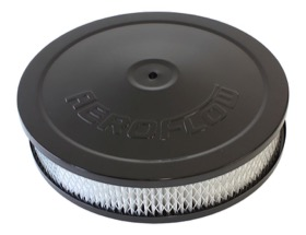 "<strong>Black Air Filter Assembly </strong><br /> 9"" x 2"", 5-1/8"" neck, paper element"