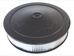 <strong>Black Air Filter Assembly with 1-1/8&quot; Drop base</strong><br /> 14&quot; x 3&quot;, 5-1/8&quot; neck, paper element