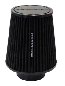 <strong>Universal Tapered 3&quot; (89mm) Clamp-On Filter</strong><br />6 in (152 mm) H x 6 in (152 mm) Base OD x 4.625 in (117 mm) Top OD