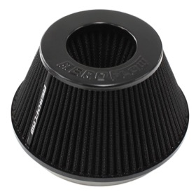 <strong>Universal Tapered 6&quot; (152mm) Clamp-On Filter - Black</strong><br />4 in (101.6 mm) H x 7.6 in (193 mm) Base OD x 4.70 in (119 mm) Top OD