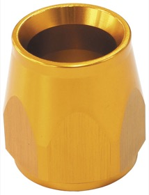 <strong>PTFE Hose End Socket -6AN</strong><br />Gold Finish. Suit 200 & 570 Series Fittings Only