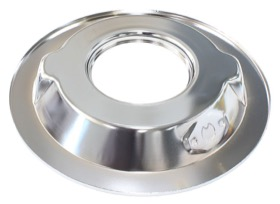 "<strong>14"" Air Cleaner Base Only</strong><br />Chrome, Recessed 1-1/8"" Base Suit 5-1/8"