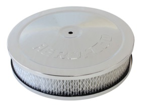 "<strong>Chrome Air Filter Assembly </strong><br /> 9"" x 2"", 5-1/8"" neck, paper element"