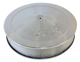 "<strong>Chrome Air Filter Assembly with 1-1/8"" Drop base</strong><br /> 14"" x 3"", 5-1/8"" neck, paper element"