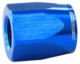 <strong>Alloy Taper Style Hose End Socket -6AN</strong> <br />Blue Finish. Suit 100 & 150 Series Fittings Only