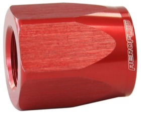 <strong>Alloy Taper Style Hose End Socket -10AN</strong> <br />Red Finish. Suit 100 & 150 Series Fittings Only