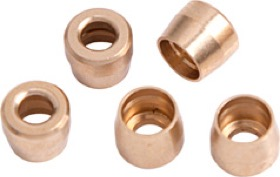 <strong>PTFE Hose Brass Olive Inserts -8AN (5 Pack)</strong> <br />