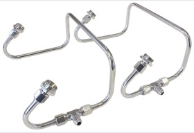 <strong>Polished S/S Dual Inlet Fuel Line Kit</strong> <br />Suit Holley 4150 Series Carburettors