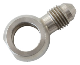 "<strong>Stainless Steel Short Banjo to Male AN -3AN</strong> <br />11.2mm (7/16"") to -3AN Male"