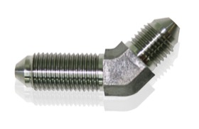 <strong>45° Stainless Steel Bulkhead -3AN</strong> <br />
