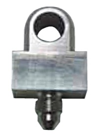 "<strong>Stainless Steel Tee Block -3AN</strong><br /> -3AN Male with 3/8"" x 24 Inserted Flare on Run"