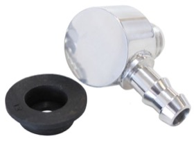 <strong>Universal Billet Brake Booster Valve with 3/8&quot; Barb</strong><br /> Polished Finish.