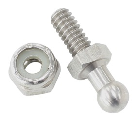 <strong>Carburettor Linkage Throttle Ball</strong><br /> Stainless Steel, Thread size 10-32 UNF with 3/8&quot;. Nyloc nut included