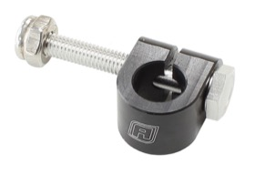 <strong>Billet Aluminium Clip Style Cable Mount</strong> <br />Full Clamp, Black
