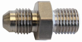 <strong>Stainless Steel Dual Seat Adapter -4AN</strong> <br /> M10 x 1.0mm