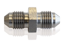 <strong>Stainless Steel Male Flare Union Fitting -6AN </strong><br /> Male -6AN to Male -6AN (Short)