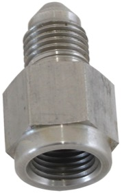 <strong>Straight Female NPT to Male AN Adapter 1/8&quot; to -3AN</strong><br /> Stainless Steel