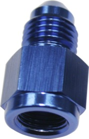 <strong>Straight Female NPT to Male AN Adapter 1/8&quot; to -4AN</strong><br /> Blue Finish