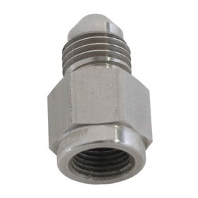 <strong>Straight Female NPT to Male AN Adapter 1/8&quot; to -4AN</strong><br /> Stainless Steel