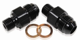 TH400 TRANS FITTING -6 x 1/4 BLACK 1/4
