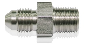"<strong>Stainless Steel NPT Male to AN Fitting</strong> <br /> 1/8"" NPT to Male -3AN"