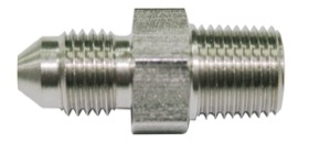 <strong>Stainless Steel NPT Male to AN Fitting</strong> <br /> 1/4&quot; NPT to Male -4AN