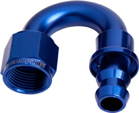 <strong>400 Series Push Lock 180&deg; Hose End -8AN </strong><br />Blue Finish. Suits 400 Series Hose