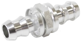 <strong>Male to Male Barb Push Lock Adapter 8mm (5/16&quot;) to -6</strong> <br />Silver Finish