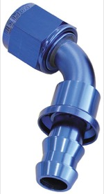 <strong>400 Series Push Lock 60&deg; Hose End -8AN</strong> <br />Blue Finish. Suits 400 Series Hose