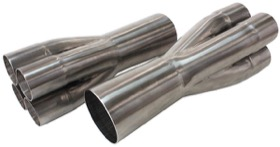 "<strong>Stainless Steel 4 into 1 Merge Collectors </strong><br /> 1-7/8"" Primary's into 3-1/2"" Collector Outlet"