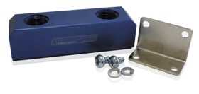 <strong>Billet Log Type Fuel Block -8AN</strong><br /> Blue Finish