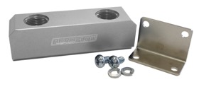 <strong>Billet Log Type Fuel Block -8AN</strong><br /> Silver Finish