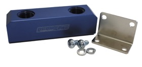 <strong>Billet Log Type Fuel Block -12AN</strong><br /> Blue Finish