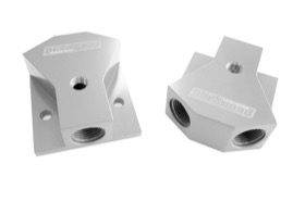 "<strong>Billet Y-Block with 1/8"" NPT Port - 8AN Inlet/Outlet</strong><br /> Silver Finish"