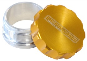 <strong>1&quot; Billet Aluminium Weld-On Filler with Gold Cap</strong><br />