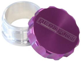 <strong>2-1/2&quot; Billet Aluminium Weld-On Filler with Purple Cap</strong><br />