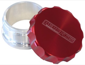 <strong>2-1/2&quot; Billet Aluminium Weld-On Filler with Red Cap</strong><br />
