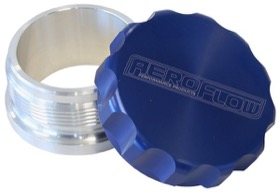 "<strong>3"" Billet Aluminium Weld-On Filler with Blue Cap</strong><br />"