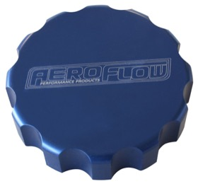 <strong>Billet Radiator Cap Cover </strong><br /> Suit Large Cap, Blue Finish
