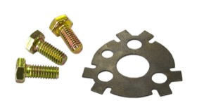 <strong>Cam Locking Plate and Bolt Kit</strong><br /> Small and Big Block Chevy, includes Grade 8 bolts