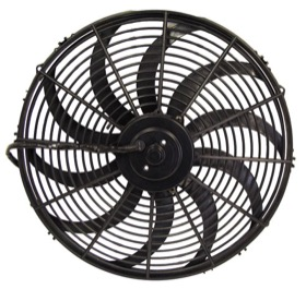 <strong>16&quot; Electric Thermo Fan</strong><br /> 2000 CFM, Curved Blades, reversible